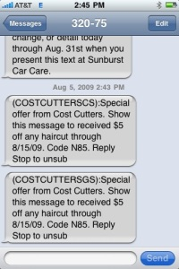 Cost Cutters Mobile Coupons