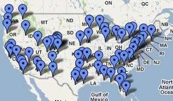 Live The Dream National tour map